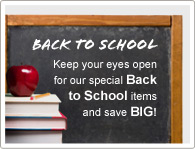 Tieni gli occhi aperti per i nostro speciale Torna A Scuola e risparmierai TANTISSIMO!